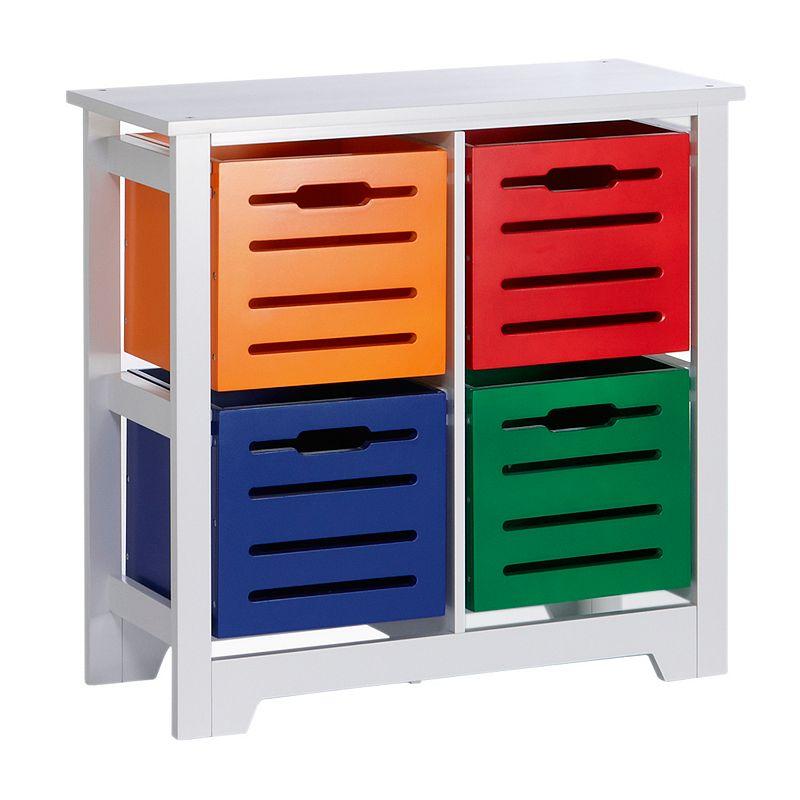 RiverRidge Kids 4-Bin Storage Cabinet