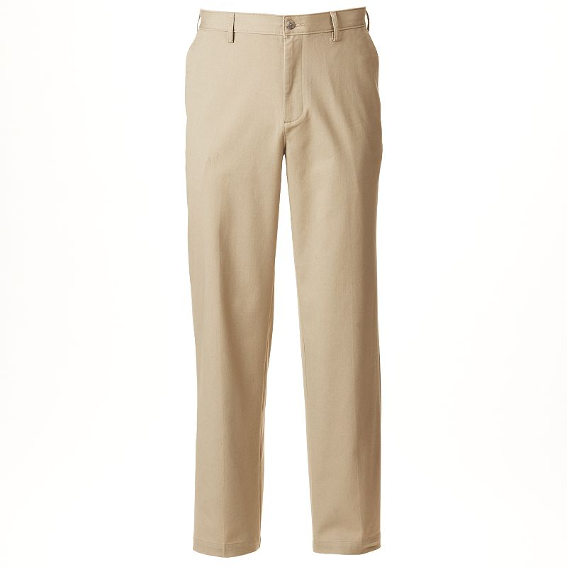 Big & Tall Croft & Barrow Straight-Fit True Comfort Flat-Front Pants