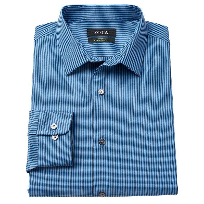 Men's Apt. 9® Extra-Slim Fit Striped Stretch Spread-Collar Dress Shirt