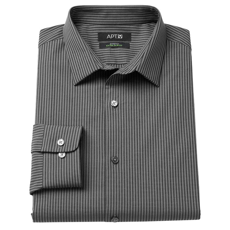Men's Apt. 9® Extra-Slim Fit Striped Stretch Spread-Collar Dress Shirt