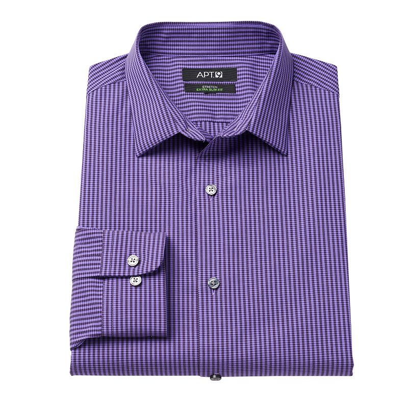 Men 39 S Apt 9 Extra Slim Fit Striped Stretch Spread Collar