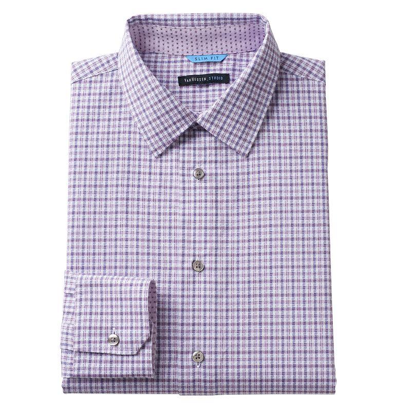 Men's Van Heusen Studio Slim-Fit Checked Casual Button-Down Shirt