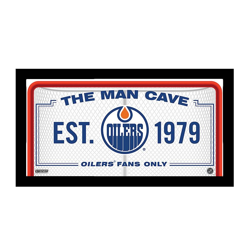 Sports Team Man Cave Signs : Steiner sports edmonton oilers framed quot man cave