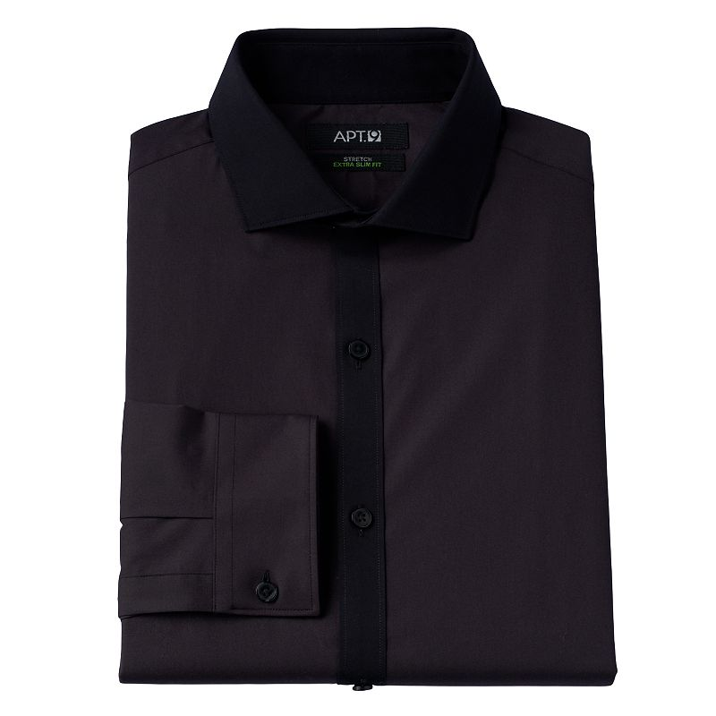 Men's Apt. 9® Slim-Fit Dual-Stretch Wrinkle-Resistant Spread-Collar Dress Shirt