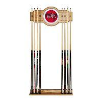 Chicago Bulls Hardwood Classics Billiard Cue Rack with Mirror