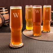 Cathy's Concepts Monogram 4-pc. Craft Beer Pilsner Glass Set, Multicolor