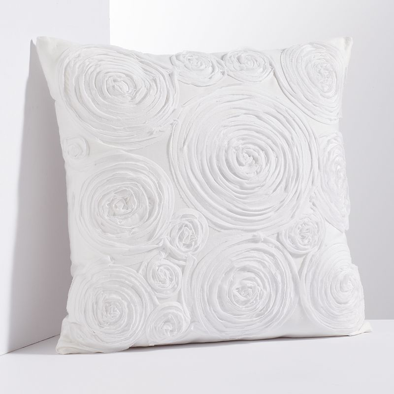 Simply Vera Vera Wang Floral Applique Throw Pillow