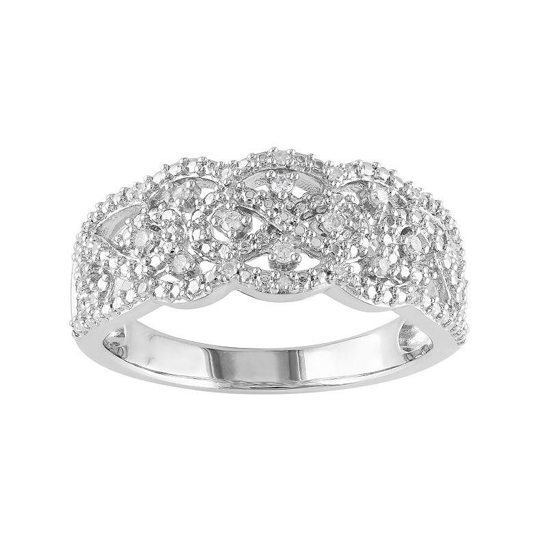 1/10 Carat T.W. Diamond Sterling Silver Openwork Infinity Ring