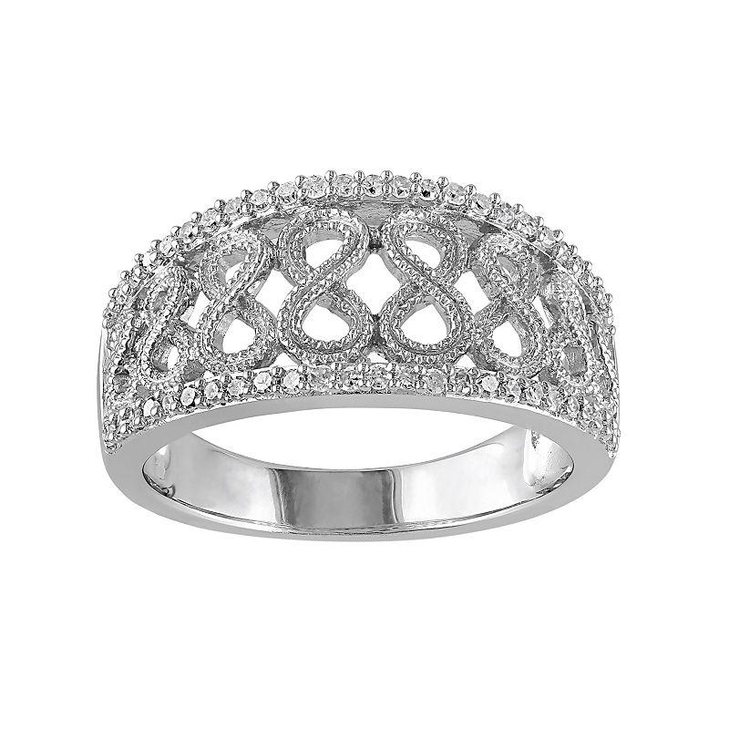 1/4 Carat T.W. Diamond Sterling Silver Openwork Infinity Ring