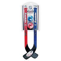 Franklin NHL Flexplay Street Hockey 2-Player Stick & Ball Set