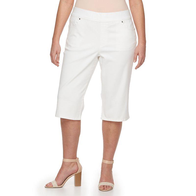 Plus Size Gloria Vanderbilt Avery Twill Skimmer Capris