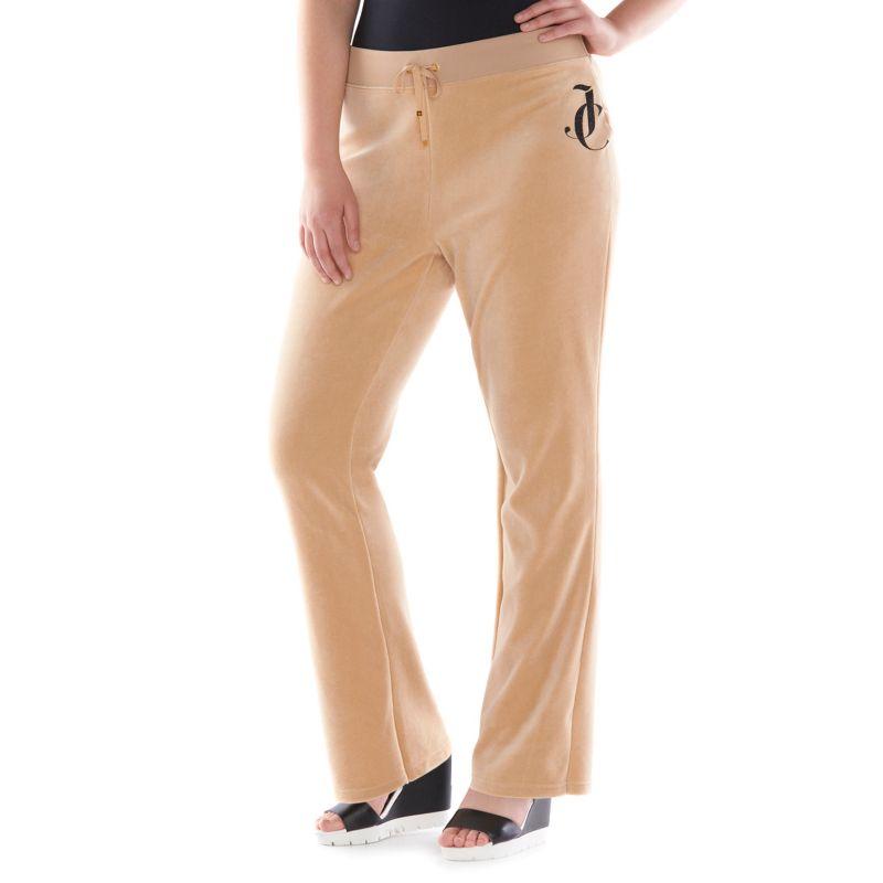 Plus Size Plus Size Juicy Couture Bootcut Velour Pants, Women's, Size: 1X, Brown