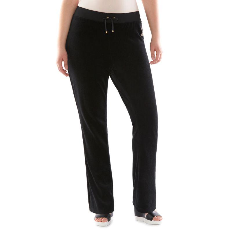 Plus Size Plus Size Juicy Couture Bootcut Velour Pants, Women's, Size: 3X SHORT, Black