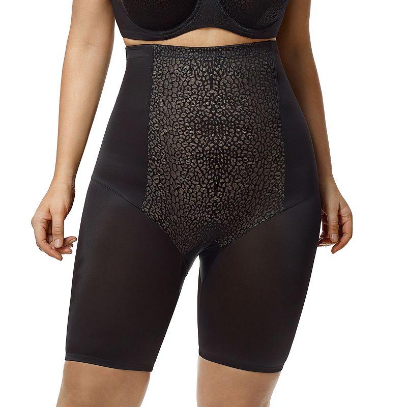 Plus Size Elila Leopard High-Waist Thigh Slimmer 8205