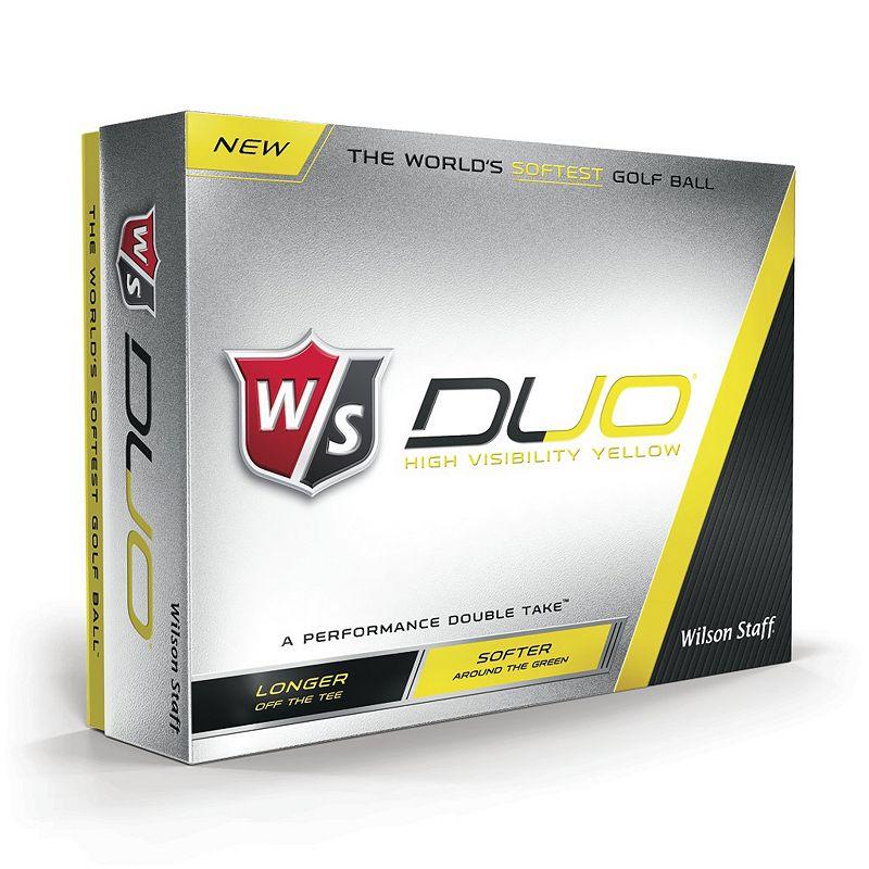 Wilson Staff Duo Yellow Golf Balls - 12-Pack