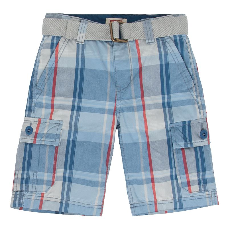 Boys 4-7x Levi's Huntington Plaid Cargo Shorts
