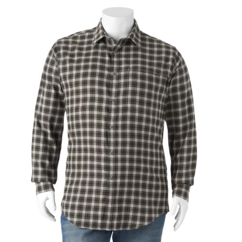 Men's Croft & Barrow Plaid Outdoor Flannel Shirt