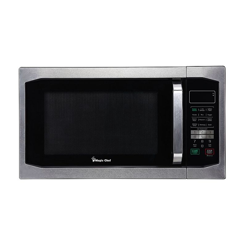 Countertop Microwave Kohls : watt countertop microwave oven black magic chef 1100 watt countertop ...