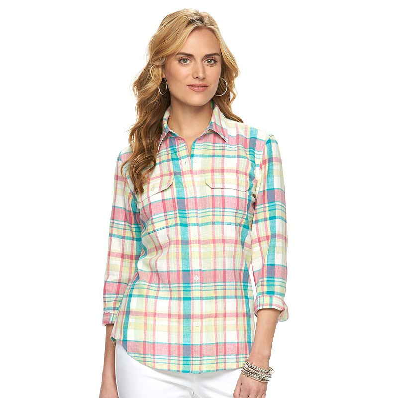 Chaps Plaid Shirt - Women's