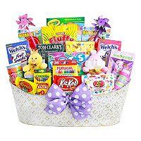 Alder Creek Easter Eggstravaganza Candy & Bunny Gift Basket Set