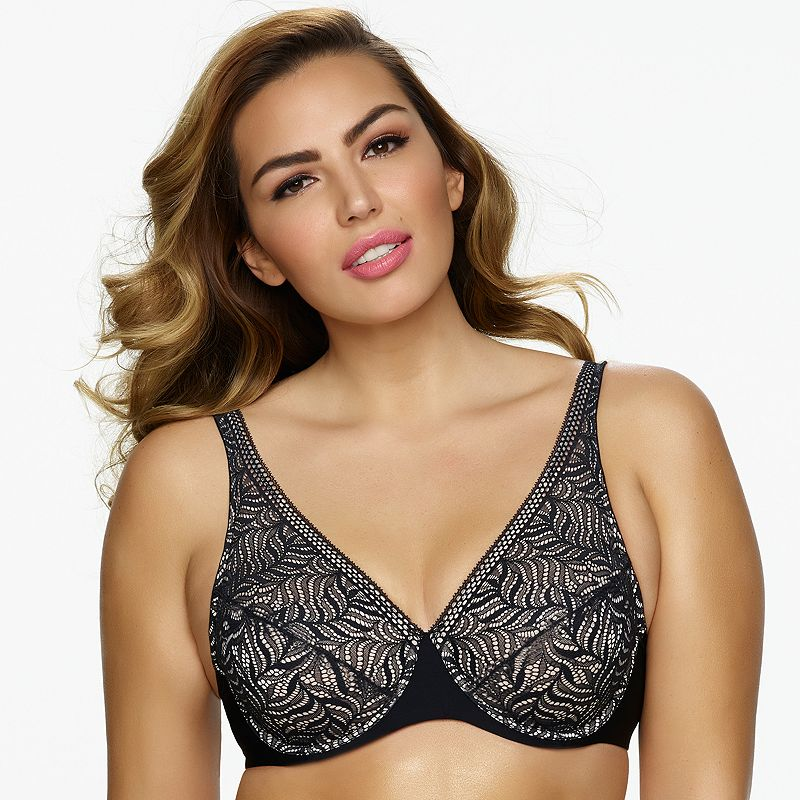 Paramour by Felina Bra: Carolina Unlined Full-Figure Plunge Bra 215011