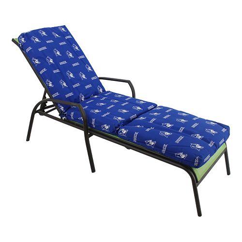 Duke blue devils 3 piece chaise lounge chair cushion for Blue chaise lounge cushions