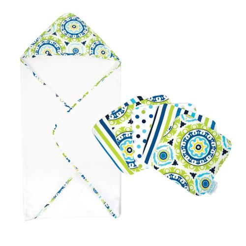 Waverly Baby Solar Flair 6-pc. Hooded Towel & Wash Cloth Bouquet Set by Trend Lab