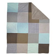 Trend Cocoa Mint Receiving Blanket  by