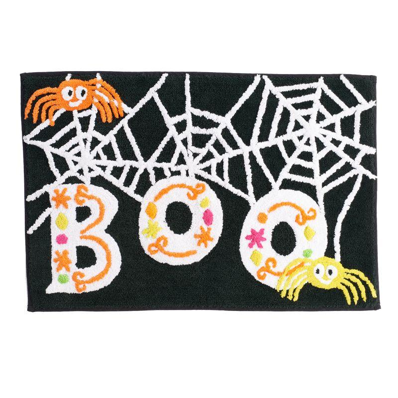 "Halloween ""Boo"" Spider Bath Rug (Black)"