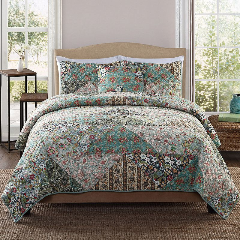 Country Triangle Patch Quilt Set