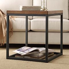 HomeVance Brynn Industrial Rustic End Table by
