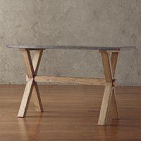 HomeVance Cassandra Driftwood Console Table