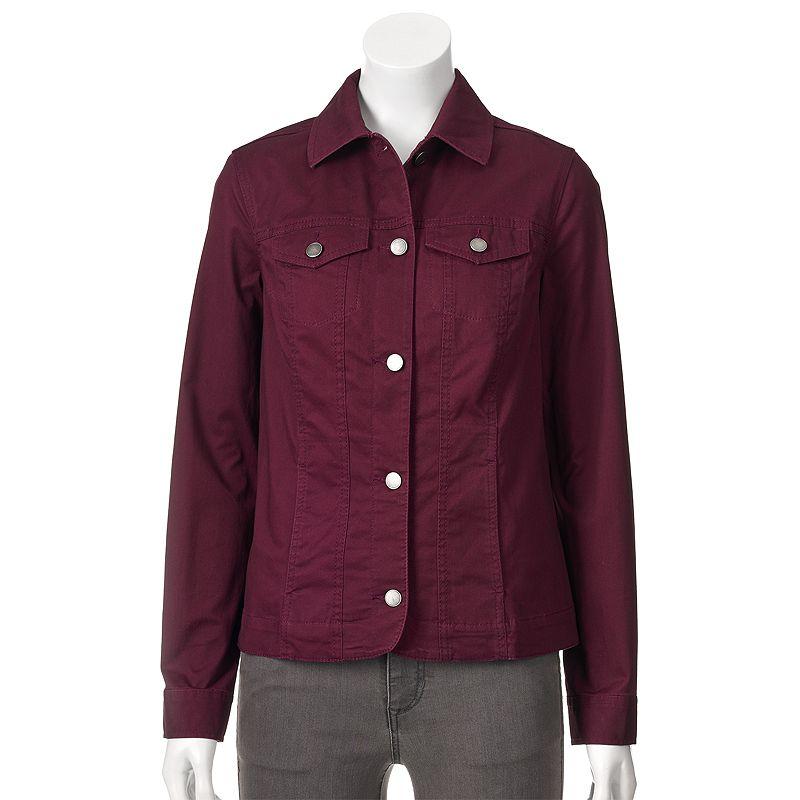 Women's Croft & Barrow® Twill Jacket