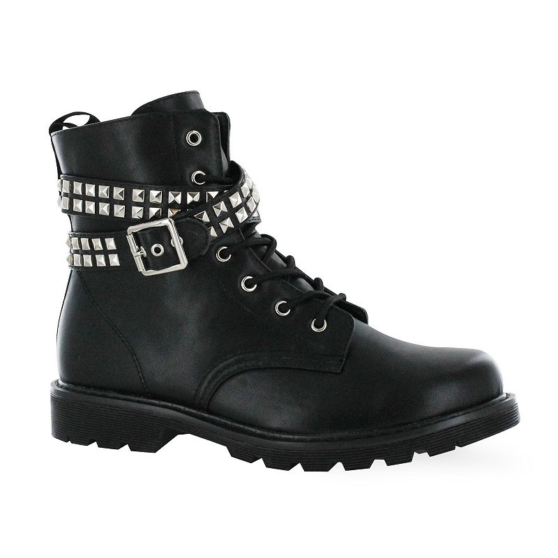Gotta Flurt Lani Women's Studded Combat Boots