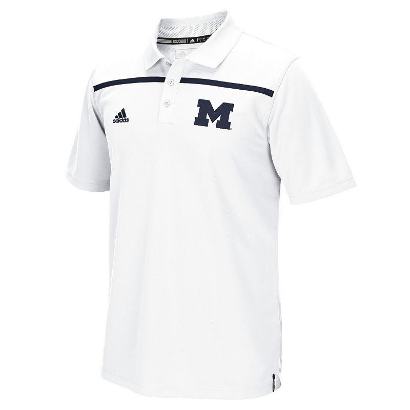 Men's adidas Michigan Wolverines Logo Sideline Coaches Polo
