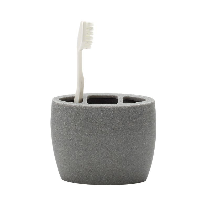 Home Classics® Gray Resin Toothbrush Holder