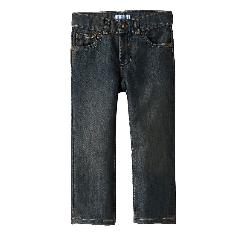 Toddler Boy Jumping Beans® Straight-Leg Dark Blue Jeans
