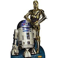 Star Wars C3PO & R2D2 Retouched Cardboard Cutout by Advanced Graphics