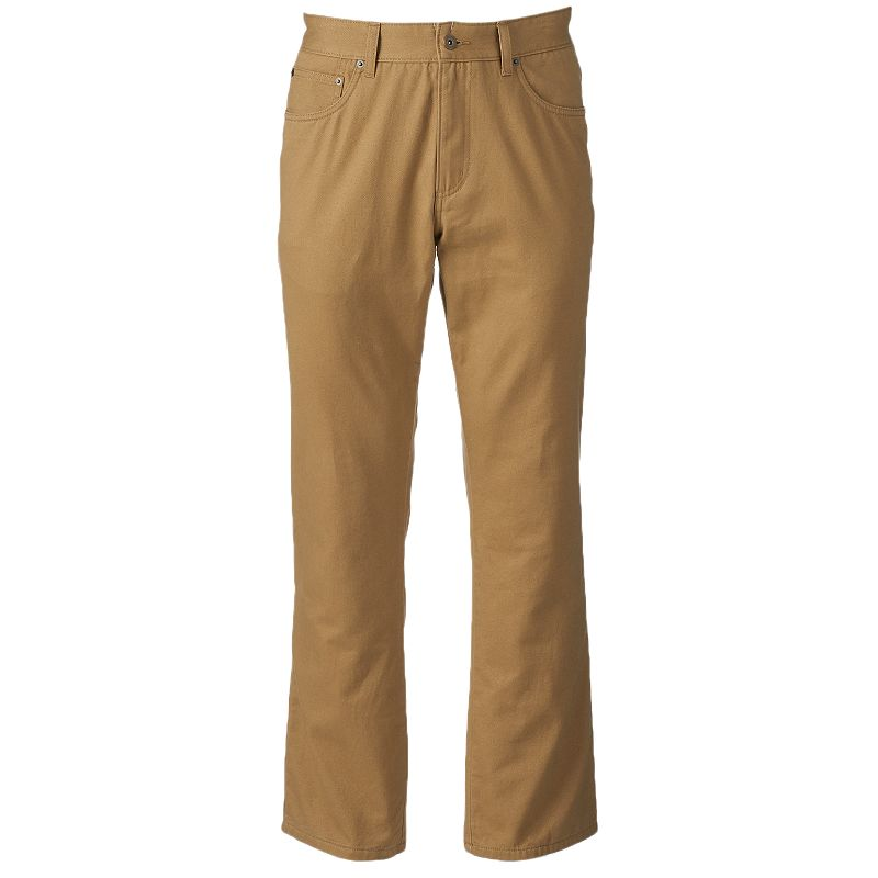 Big & Tall Croft & Barrow® Flannel-Lined Twill Casual Pants