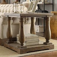 HomeVance Jefferson Driftwood End Table