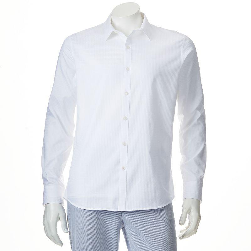 Men's Marc Anthony Slim-Fit Plaid Casual Button-Down Shirt - Men