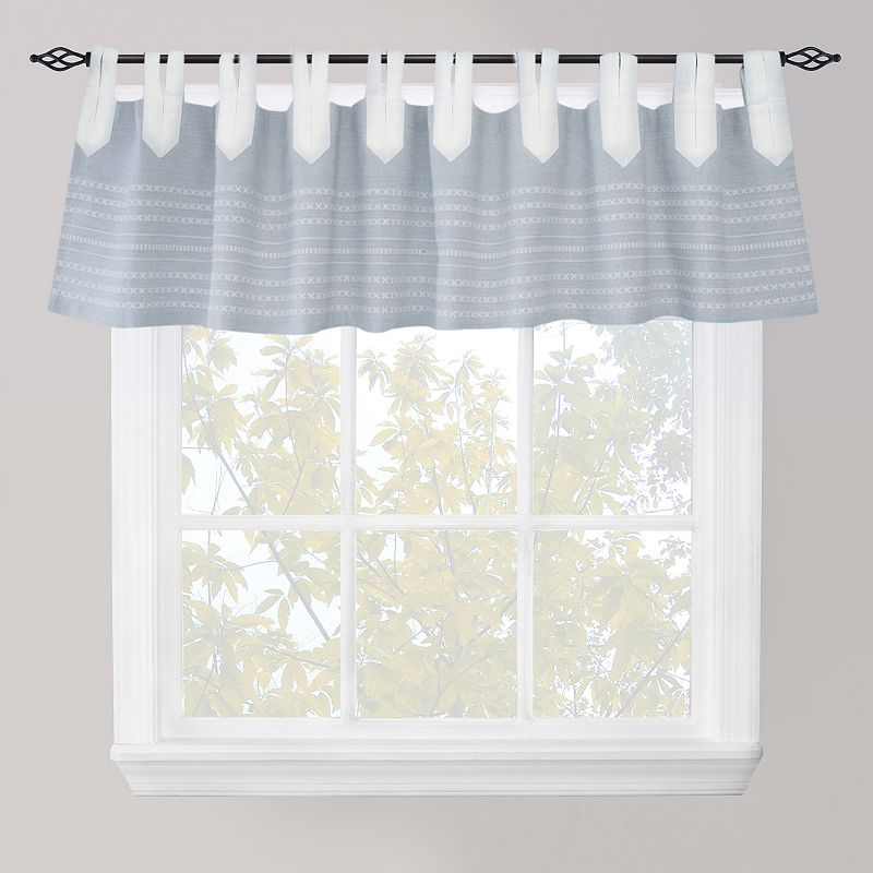 Park B. Smith Nordic Bands Chambray Straight Valance - 60'' x 14''