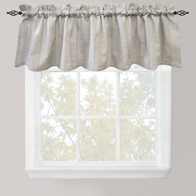Park B. Smith Eyelet Chambray Straight Valance - 60'' x 14''