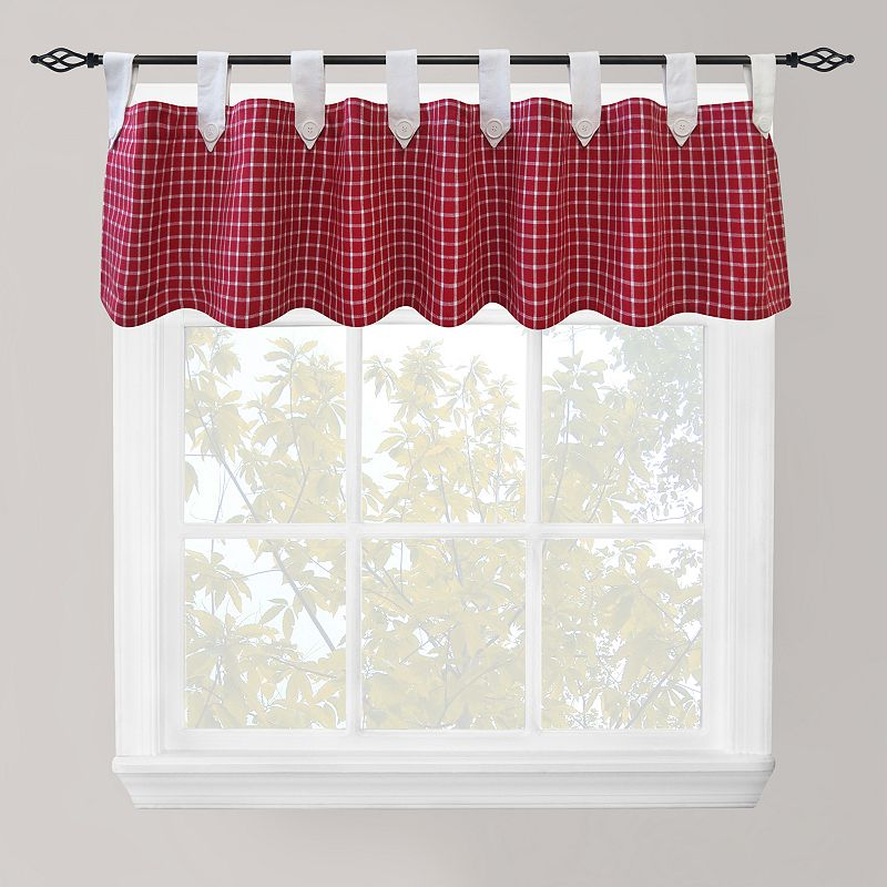 Park B. Smith Picnic Check Straight Valance - 60'' x 14''