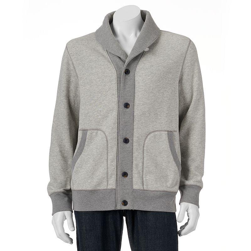 Big & Tall SONOMA Goods for Life™ Shawl-Collar Fleece Cardigan