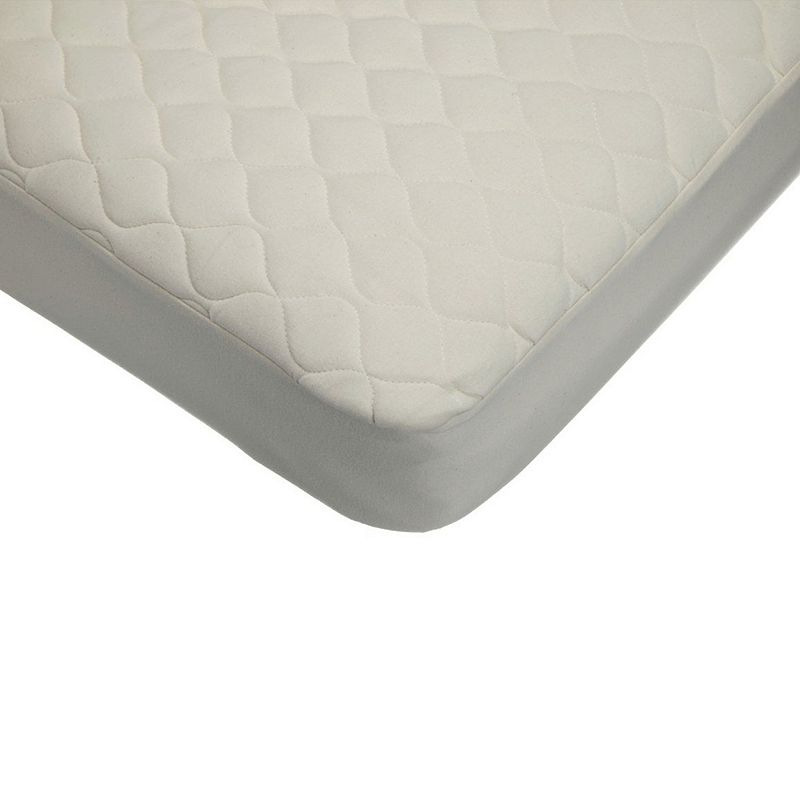 TL Care Organic Quilted Waterproof Fitted Crib & Toddler Mattress Pad