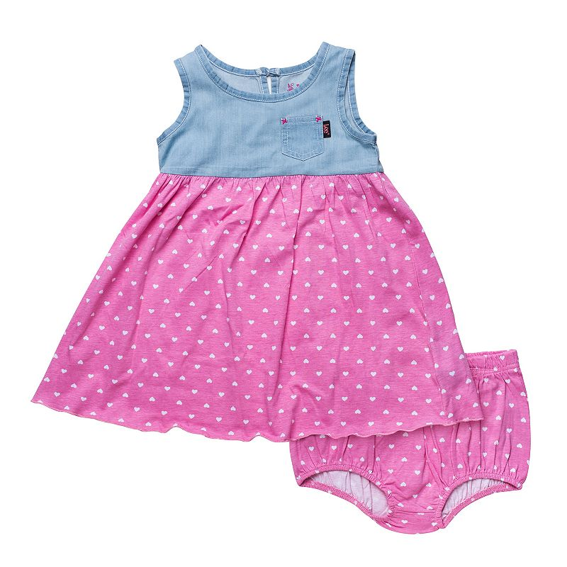 Toddler Girl Lee Heart Denim Dress