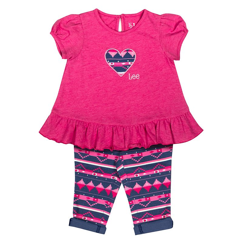Toddler Girl Lee Heart Fairisle Tunic & Leggings Set