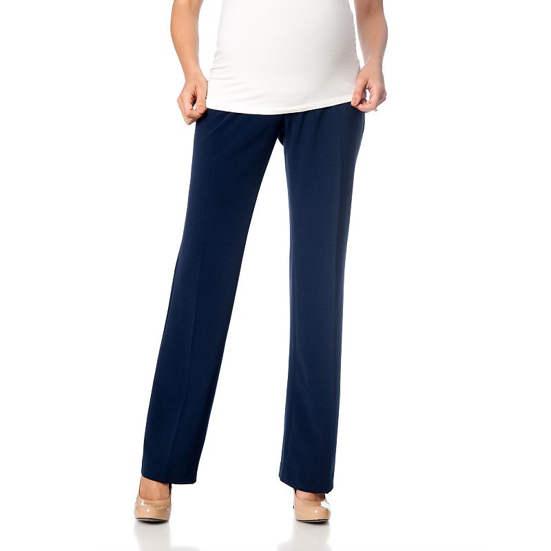Petite Oh Baby by Motherhood™ Secret Fit Belly™ Bootcut Dress Pants
