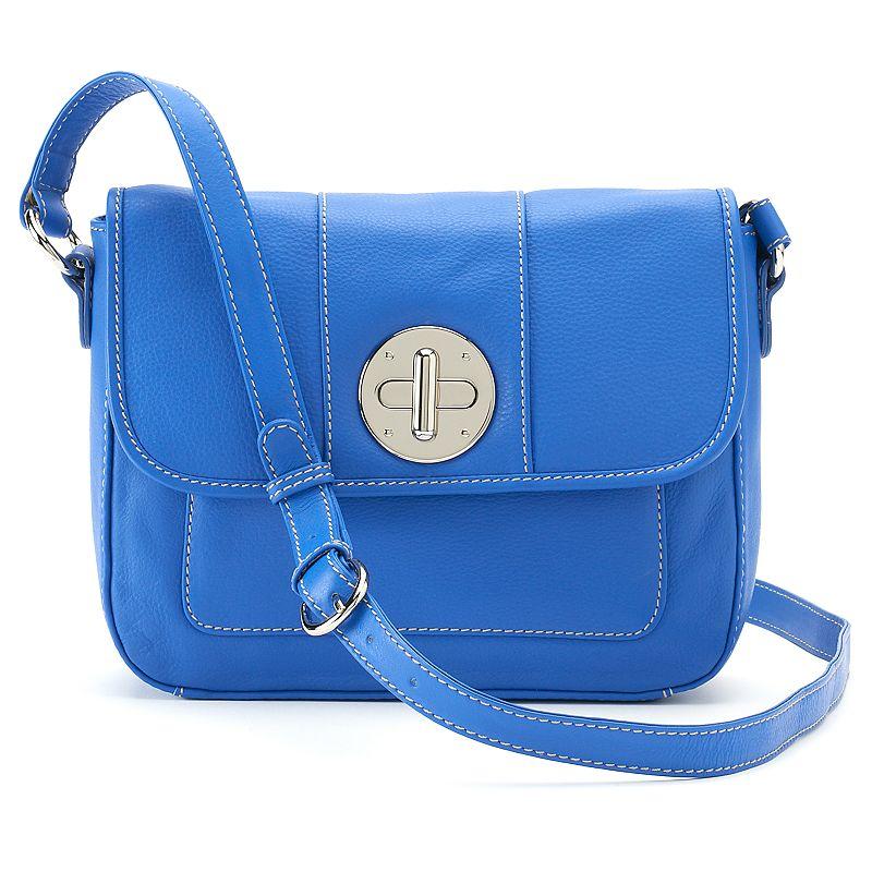 ili Leather Flap Front Crossbody Bag